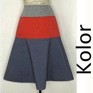 kolor A-Line Cotton Shift Skirt Size 2